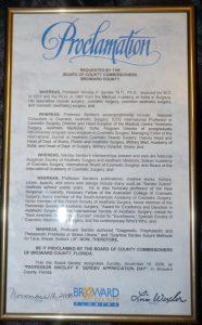 Ден на благодарност към българския лекар д-р Николай Сердев в Маями
