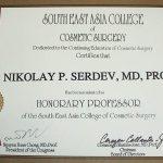 почетен професор към югоизточно азиатския колеж